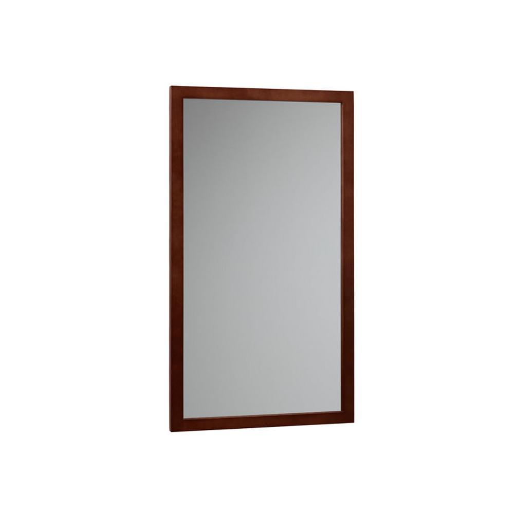 Ronbow Contemporary Solid Wood Framed Bathroom Mirror In Dark Cherry 600118 H01