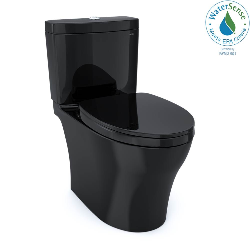 Toto Aquia® IV 1G® Two-Piece Elongated Dual Flush 1.0 and 0.8 GPF Universal Height Toilet, WASHLET®+ Ready, Ebony
