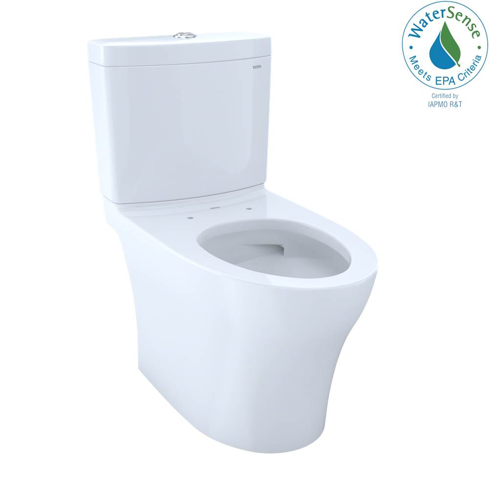 Toto Aquia IV Two-Piece Elongated Dual Flush 1.28 and 0.8 GPF Skirted Toilet with CEFIONTECT, Cotton White