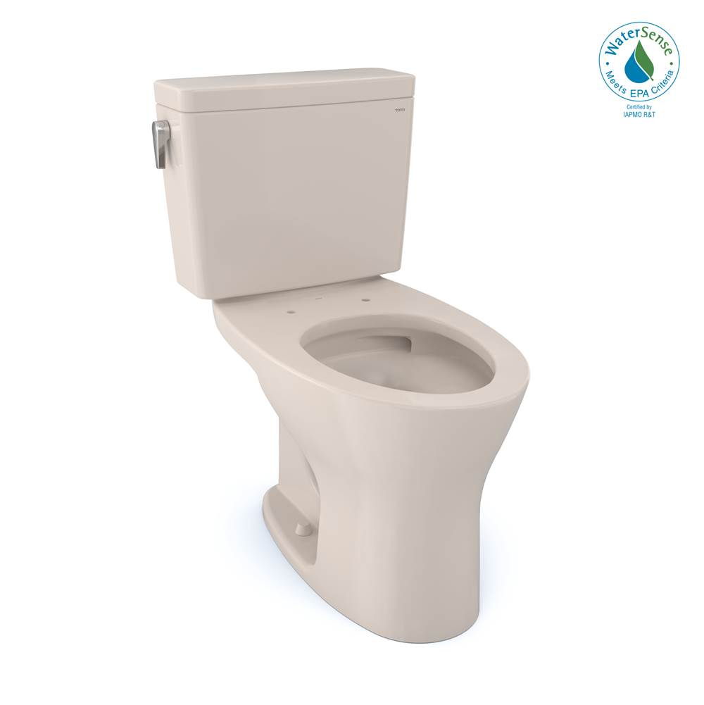 Toto Drake® 1G® Two-Piece Elongated Dual Flush 1.0 and 0.8 GPF Universal Height DYNAMAX TORNADO FLUSH® Toilet with CEFIONTECT®, Sedona Beige