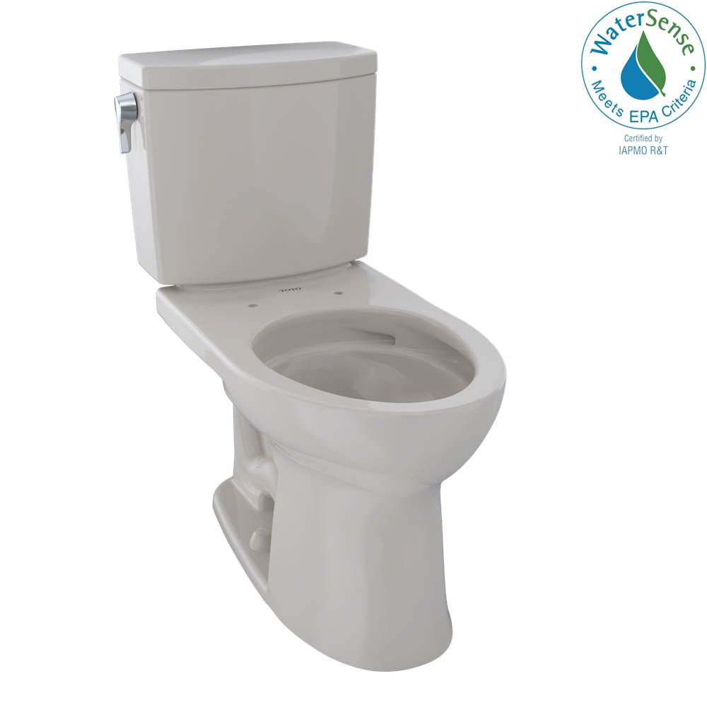Toto Drake® II 1G® Two-Piece Elongated 1.0 GPF Universal Height Toilet with CEFIONTECT, Sedona Beige