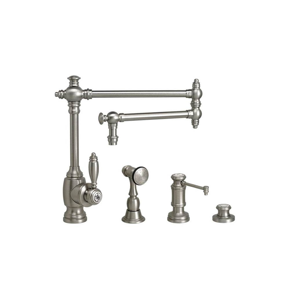 Waterstone Towson Kitchen Faucet - 18'' Articulated Spout - 3Pc. Suite