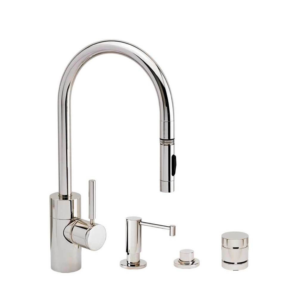 Waterstone Contemporary Plp Pulldown Faucet - Toggle Sprayer - 4Pc. Suite