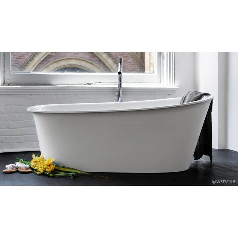 Wet Style Free Standing Soaking Tubs item BTP01-R-MBNT-COP-DA