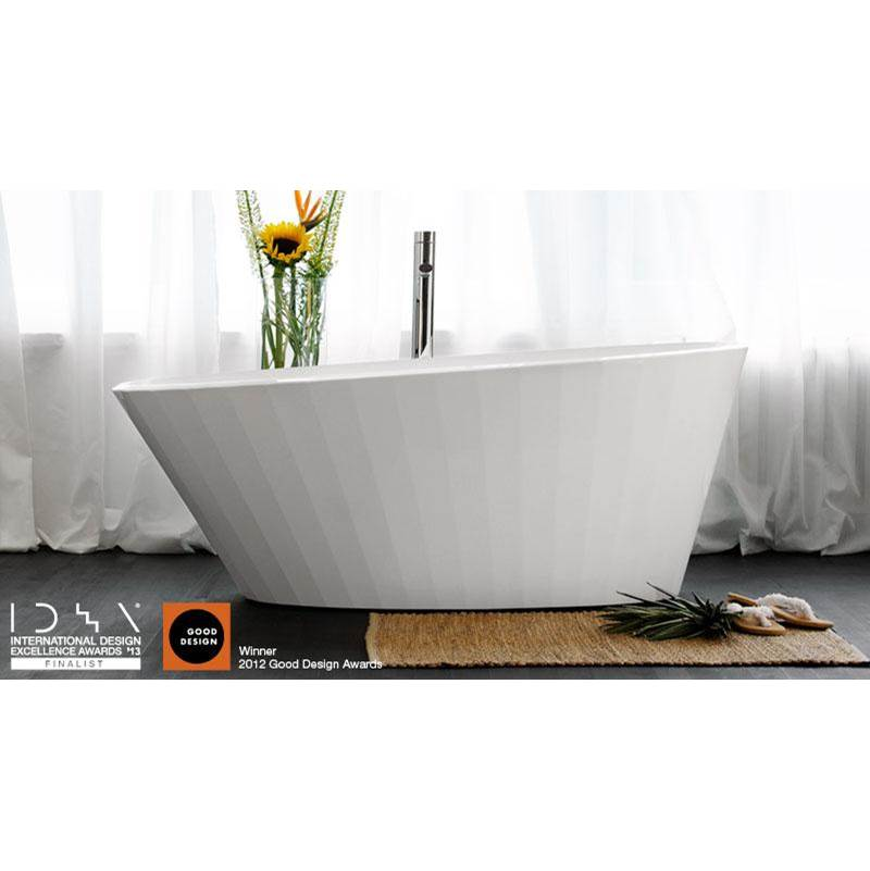 Wet Style Free Standing Soaking Tubs item BCR01-R-PC-COP-MA